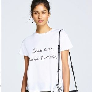 Rebecca Minkoff - Less War More La'mour Shirt